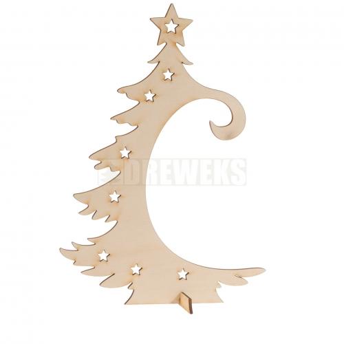 Glass ball stand - Christmas tree with stars