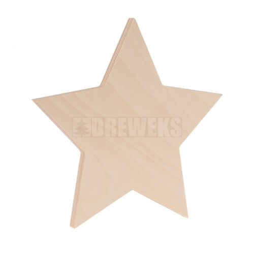 Standing star - solid/ plywood