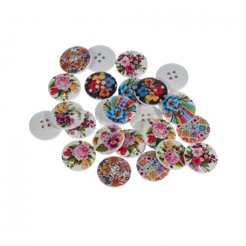 Small button - flowers