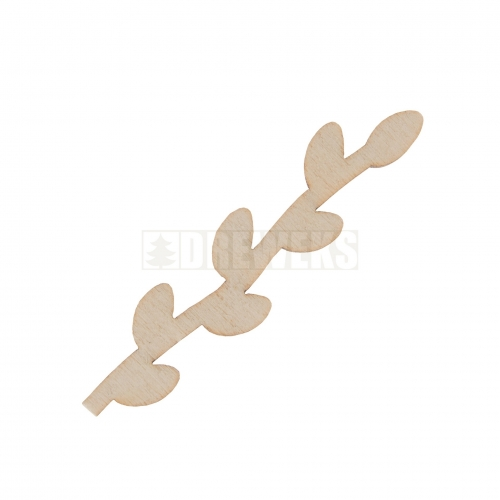 Mini cut-outs - catkins - set of 5 pcs