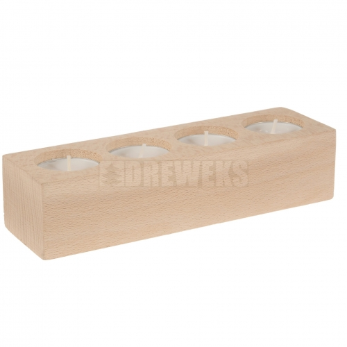 Oak tealight holder for 4 tealight