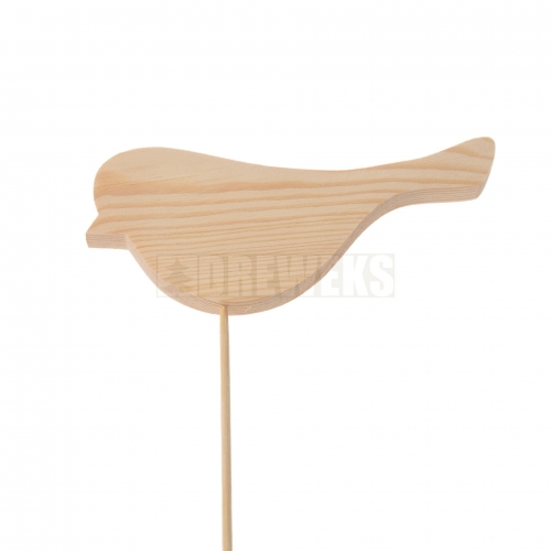 Ptaszek drewniany na piku