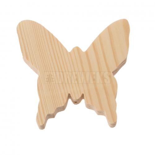 Motylek drewniany 8cm