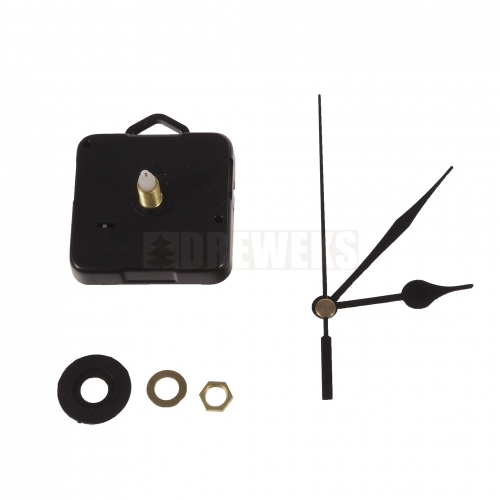Clock mechanism with hands - 72 mm/ thread 5 mm