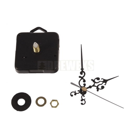 Clock mechanism with hands - 68 mm/ thread 5 mm