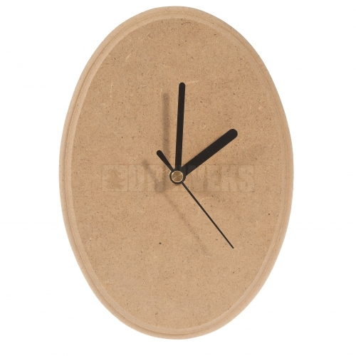 Oval shaped clock - big/ MDF material
