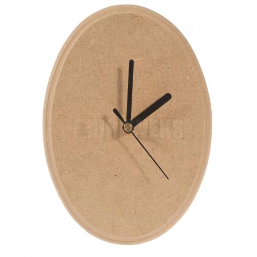 Zegar z plakietki owalnej dużej MDF