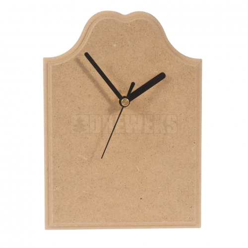 Zegar z plakietki z frezem MDF