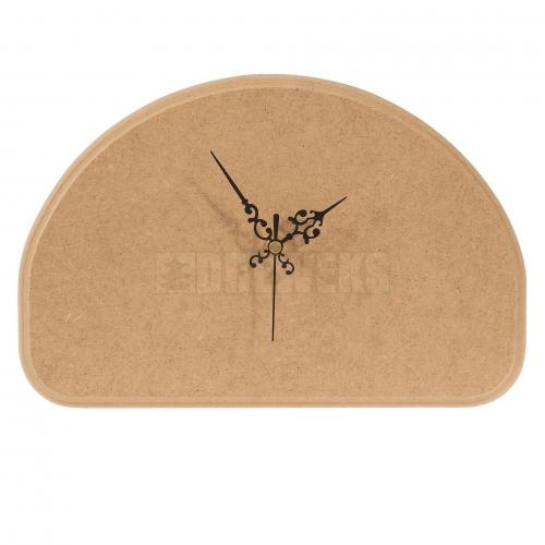 Clock - half-oval/ MDF material