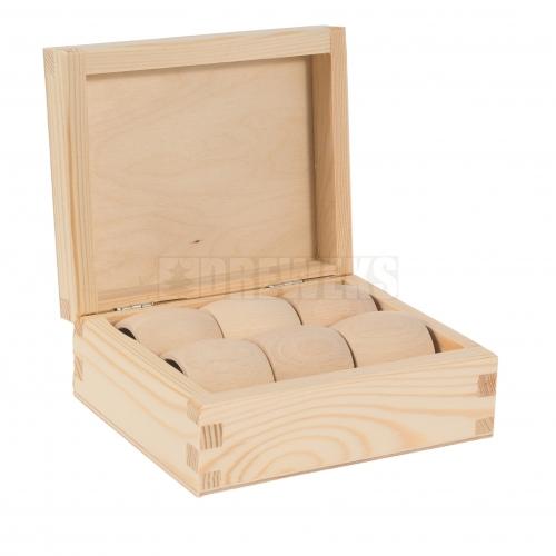 Pudełko + 6 obrączek