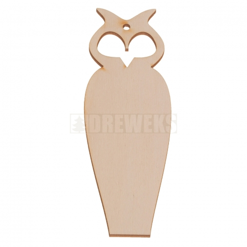 Plywood bookmark - owl