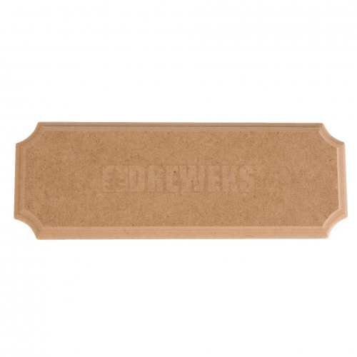 Door tag / badge - rectangular/ MDF material/ small