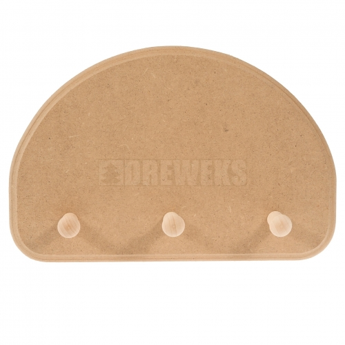 Hanger - 3 pegs/ half-oval/ MDF material