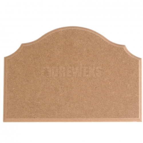 Milled board - half-oval/ big/ MDF material