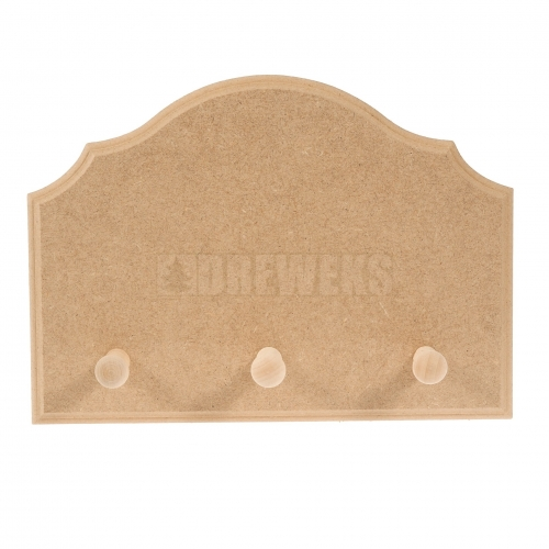 Milled hanger - 3 pegs/ MDF material