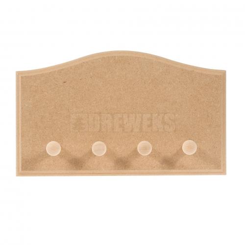 Hanger - waved/ 4 pegs/ MDF material