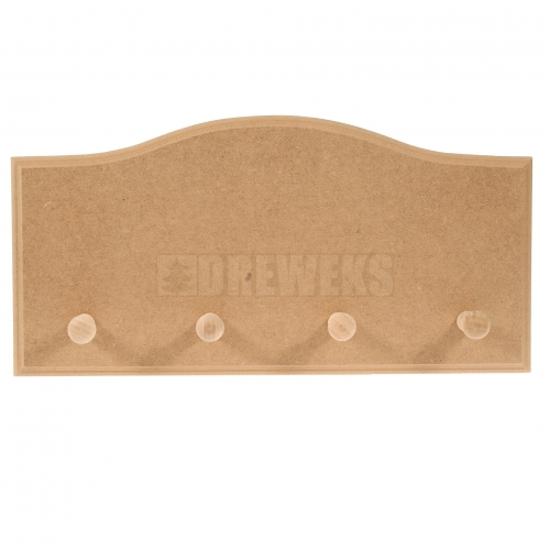 Hanger - waved/ 4 tags/ MDF material