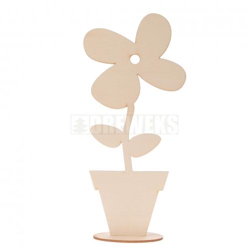 Kwiat w doniczce na podstawce duży