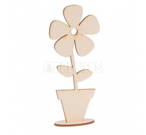 Kwiat w doniczce na podstawce mały