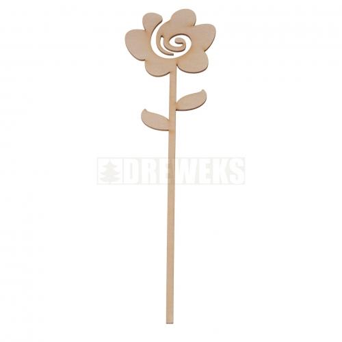 Kwiat ze sklejki - róża