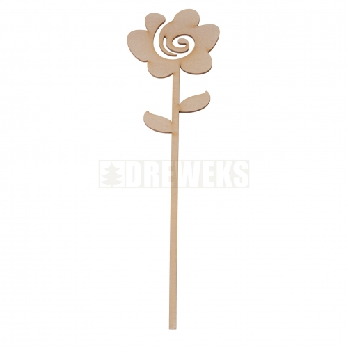 Plywood flower 8