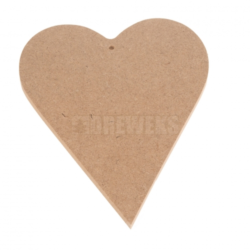 Heart cut-out 200mm - MDF material