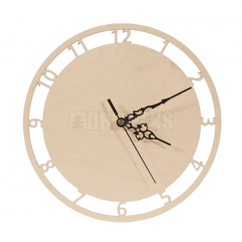 Circle clock - cut-out digits