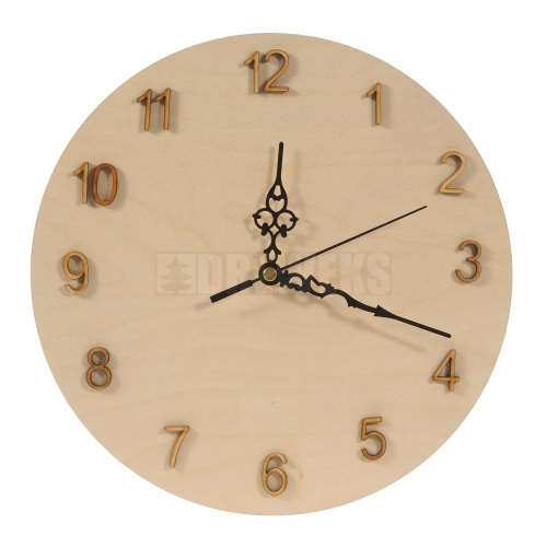 Circle clock + digits set