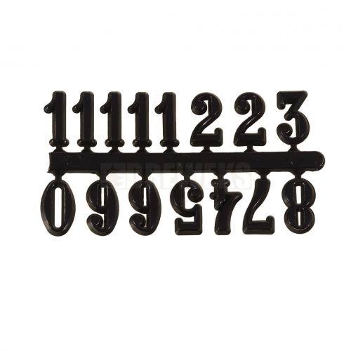Arabic digits - black