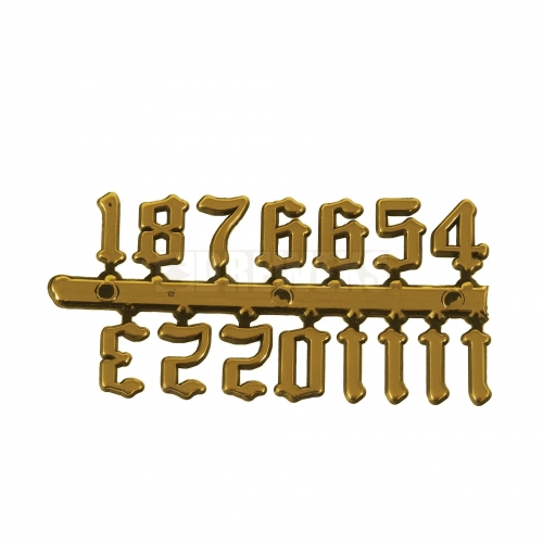 Old English digits - gold
