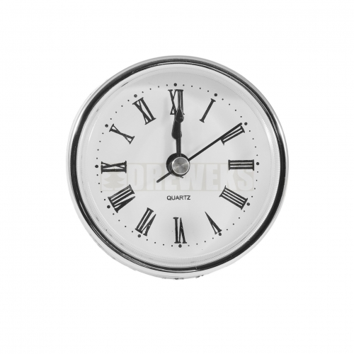Pushed clock mechanism - silver