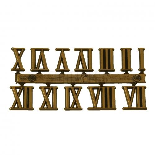 Cyferki rzymskie złote