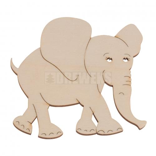 Słonik - wycinanka, podkładka