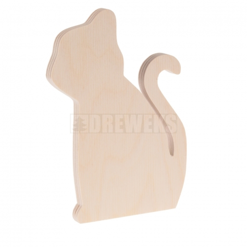 Cat cut-out - plywood/ small