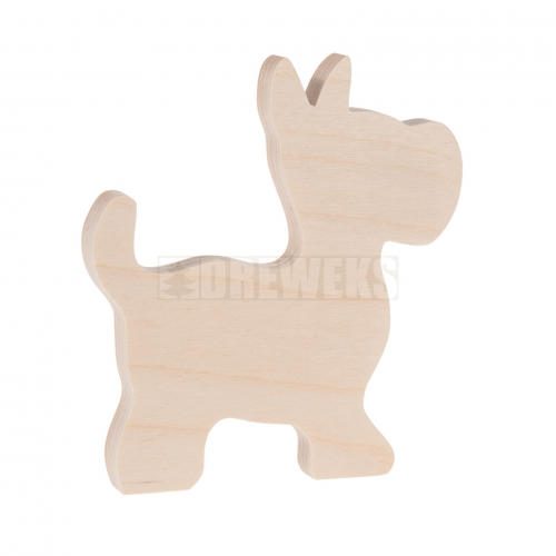 Dog cut-out - plywood/ small
