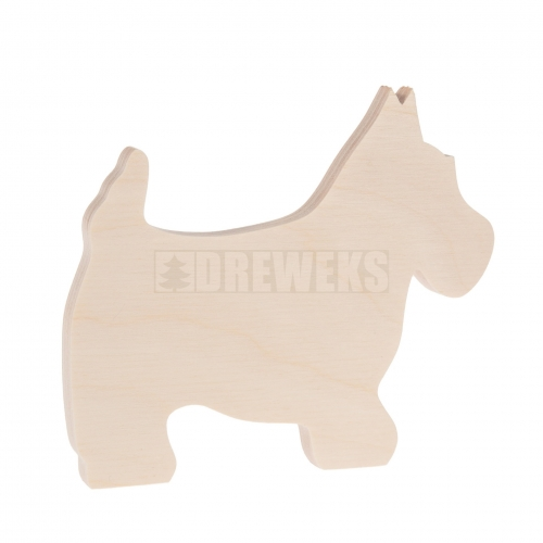 Dog cut-out - plywood/ big