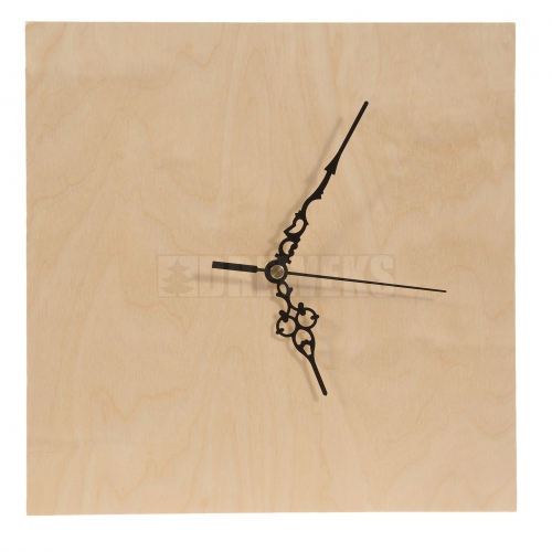 Square clock 30 cm - plywood