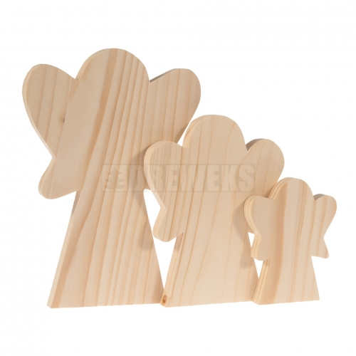 Standing angel - set of 3 pcs