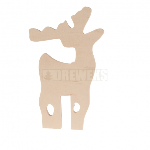 Reindeer on stand/ MDF material