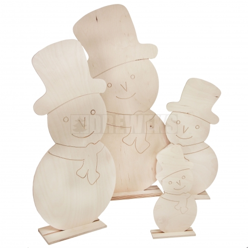 Snowmen - set 4pcs