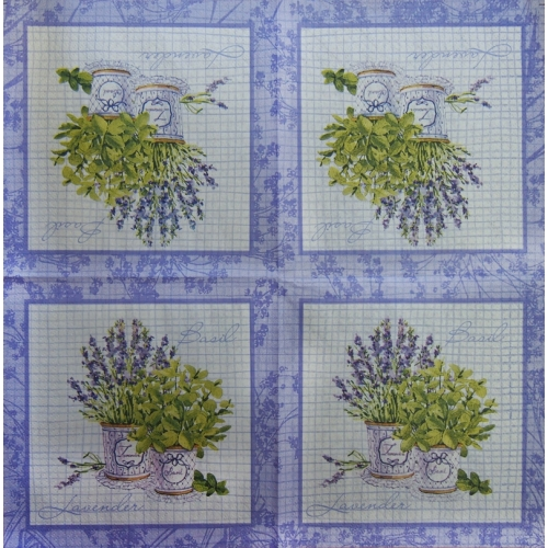 Napkin - lavender and basil