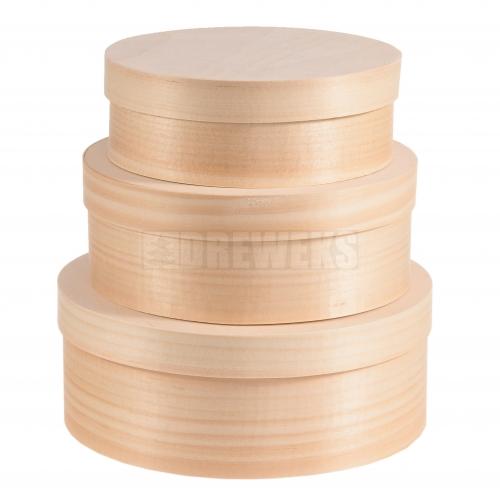 Pojemniki okrągłe z łuby - komplet 3 w1
