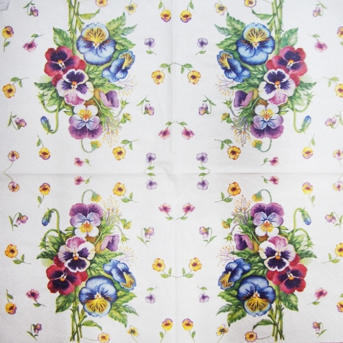 Serwetka - kwiaty w konewce