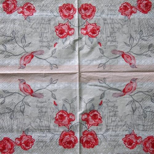 Serwetka - róża