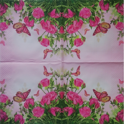 Napkin - roses