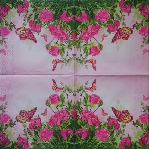 Serwetka - róże