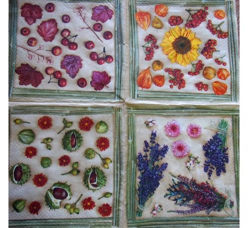 Serwetka - kwiaty