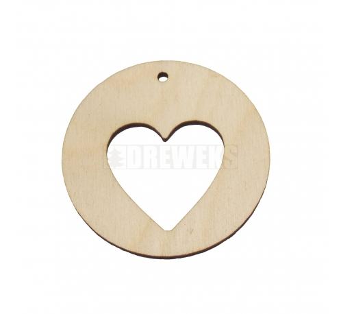Circle earring - heart