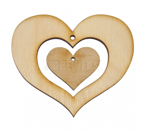 Heart 30mm&70mm - plywood/ 2in1