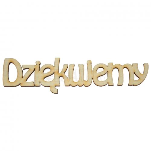 "Inscription ""DziÄ™kujemy"" - big"